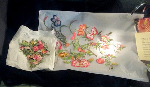 Chinese silk, Calke Abbey