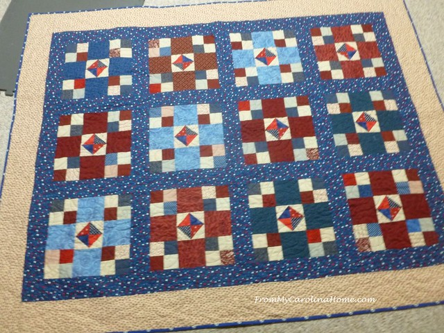 Finishing the Quilt of Valor at FromMyCarolinaHome.com