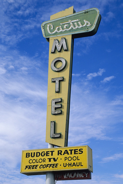 cactus motel / route 66. barstow, ca. 1999.