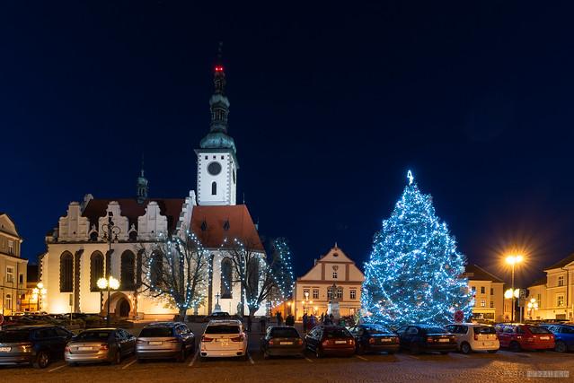 Christmas time in Tábor city