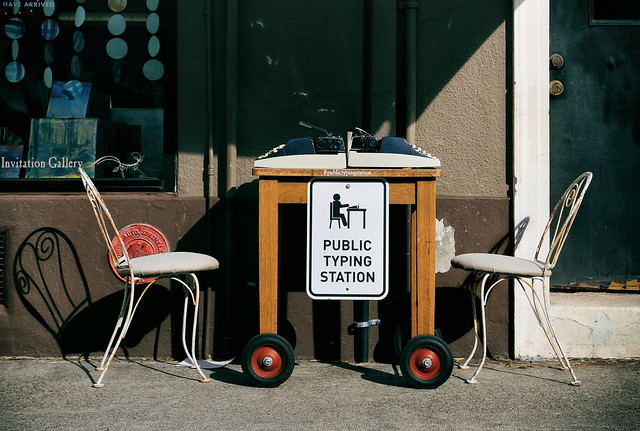 Public Typing Station