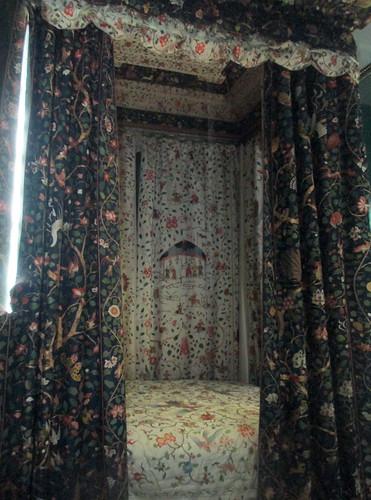 Chinese silk  hangings, Calke Abbey