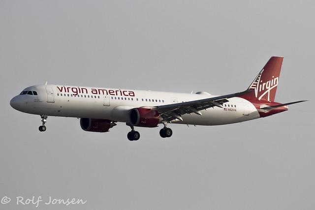 N921VA Airbus A321NEO Virgin America Los Angeles airport KLAX 13.09-18