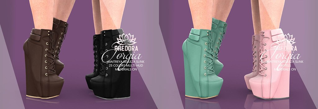 "Phedora. for LEVEL Event – ""Jorgia"" Boots ♥"