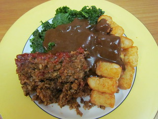 No-Meat Loaf; Great Brown Gravy