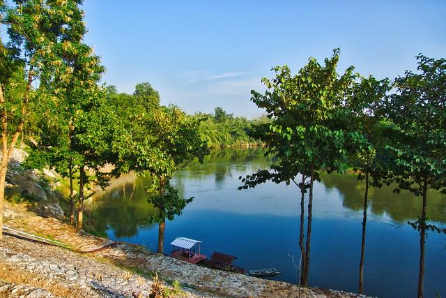 River Kwae Noi passing Prasat Muang Singh in Kanchanaburi, Thailand