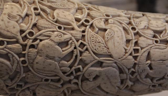 Corno d'avorio intagliato - The Oliphant - Regione mediterranea dal X al XII secolo d.C. -Pergamon Museum, Berlino