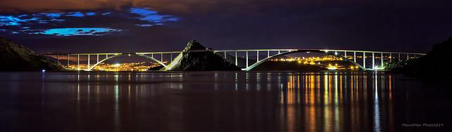 Krčki most iz Uvale Voz