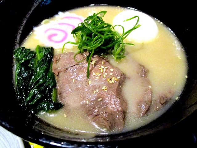 Excapade beef ramen in miso soup