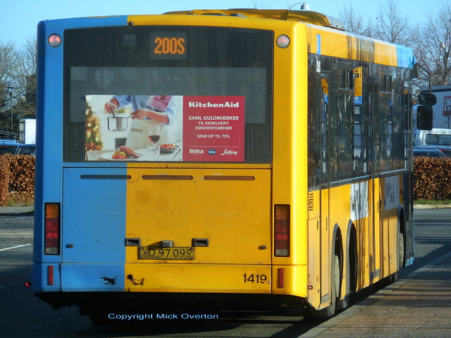 Upto 7 days left in service for the last 9 VDL SBF4000 on route 200S - ARRIVA 1419 built 2008 seen at Friheden