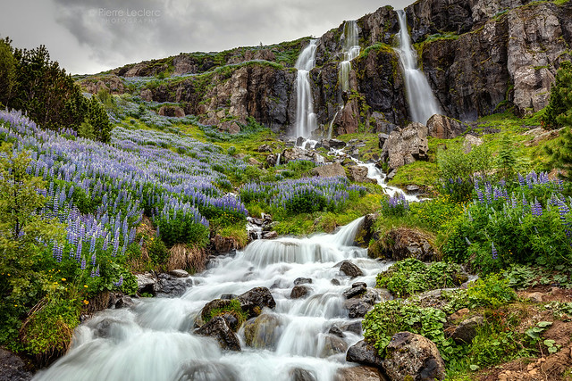 The Waterfall In Seydisfjordur Iceland