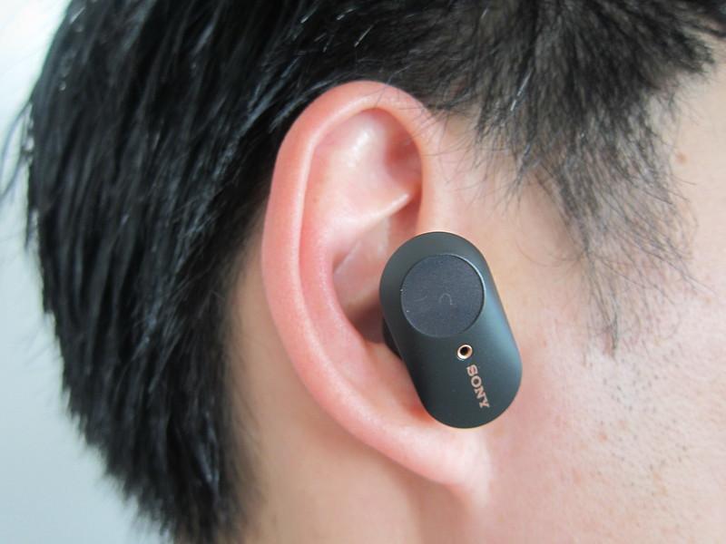 Sony WF-1000XM3 Earbuds - Wearing