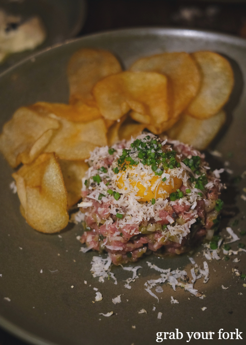 Steak tartare with horseradish at The Kittyhawk in Sydney