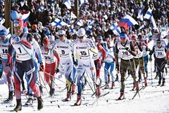 Nabitý nedělní program během na lyžích a biatlonem