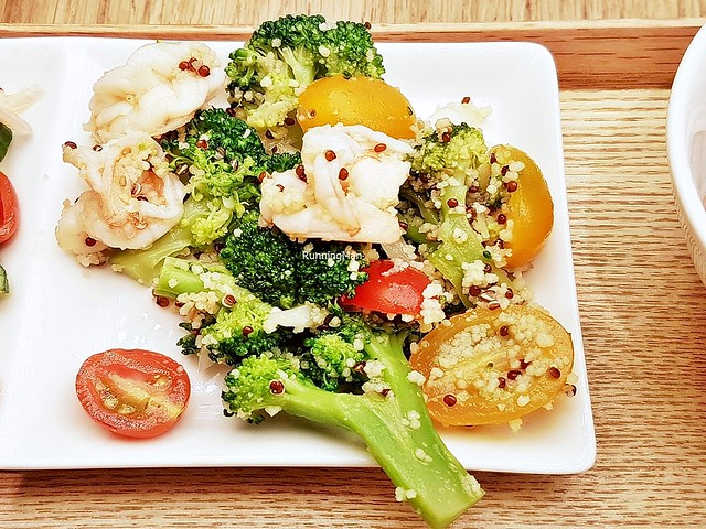 Prawn Couscous Salad With Yuzu Sesame Dressing