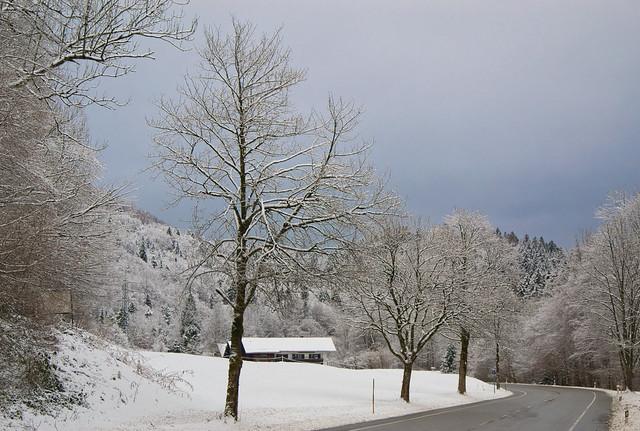 Winter scene near Marktschellenberg, Bavaria