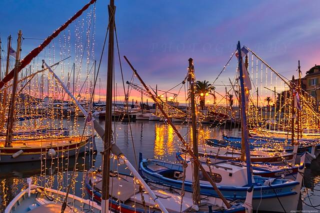 Illumination du port de Sanary-sur-Mer pour Noël -1L8A6617