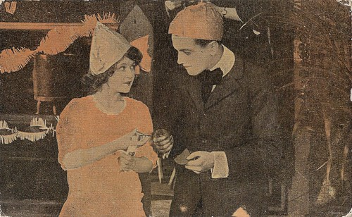 Marguerite Clark and Richard Barthelmess in The Valentine Girl (1917)