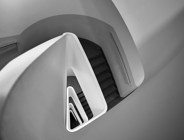 Triangle Staircase bw