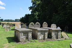 the Upton dead: white brick tombs