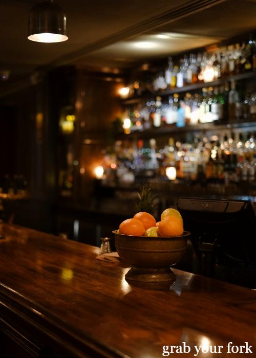 The bar at The Kittyhawk in Sydney