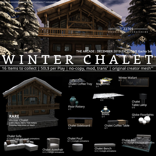 22769 - Winter Chalet for The Arcade : December 2019