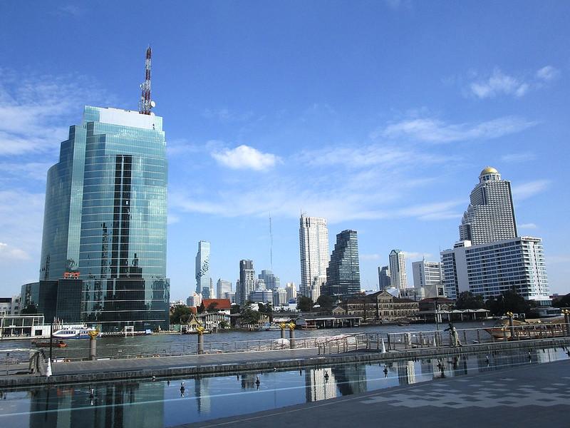 Bangkok river buildings