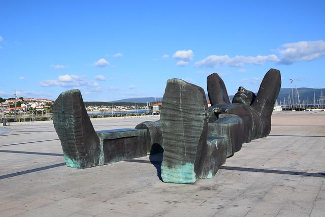 Escultura (Sangenjo, Galicia, España, 11-6-2019)