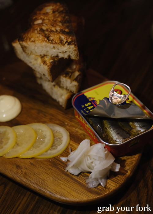 Sardines with pickled lemon at The Kittyhawk in Sydney