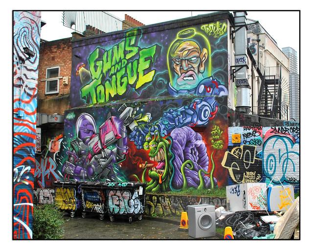 LONDON STREET ART by GUMS & TONGUE