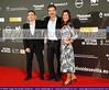 16 Festival de Sevilla Cine Europeo. Gala Inaugural. Enrique Guzmán, Productor, Juanma Suárez, Director, y Paola Sainz de Baranda, Productora de Cine