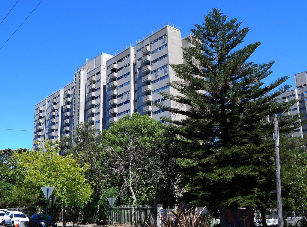 Public Housing Flats, Waterloo, Sydney, NSW.