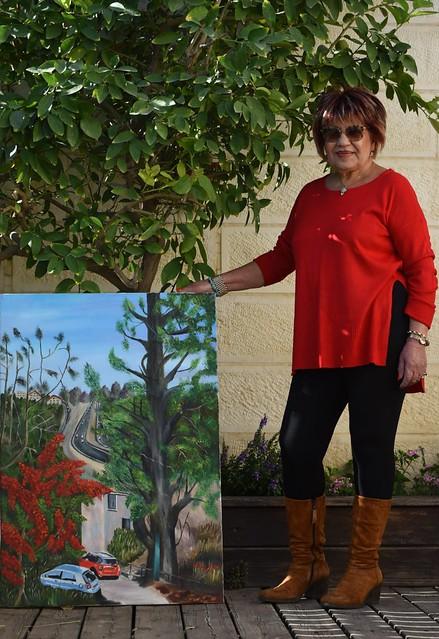 פרידה פירו Frida piro הציירת האמנית הישראלית המודרנית העכשווית הריאליסטית הירושלמית ציורי נופים צילום דיוקן דיוקנאות