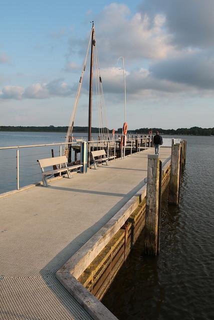 Schleswig: Pier am Stadthafen