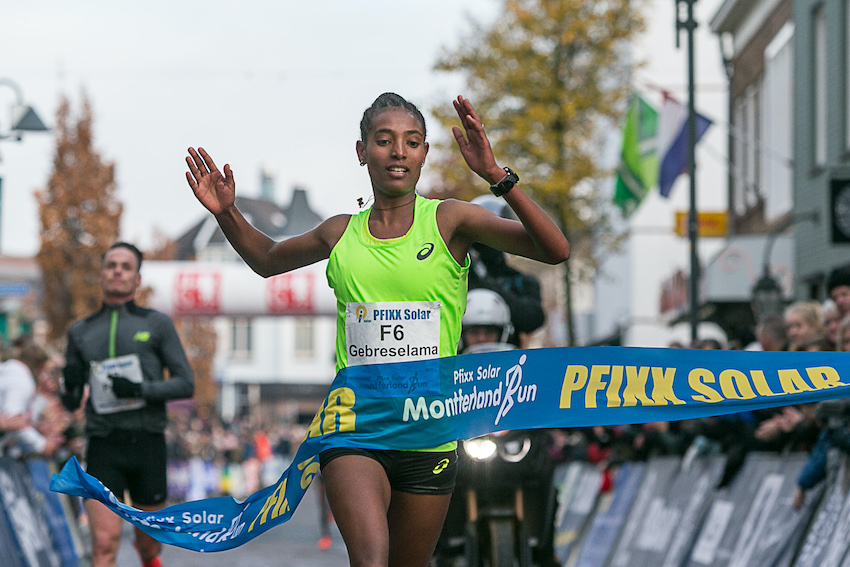 Tsigie Gebreselama Gebrer wint Montferland Run 2019
