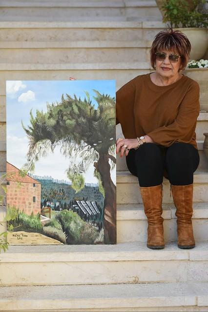 פרידה פירו Frida piro הציירת האמנית הישראלית העכשווית המודרנית הריאליסטית הירושלמית ציירות ציורי נופים צילום דיוקן דיוקנאות
