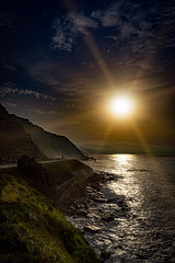 Sunset at the northern coast of Spain
