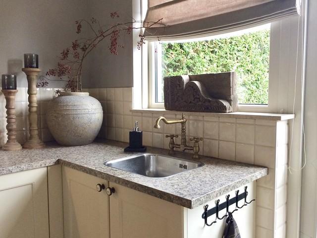 Landelijke keuken aanrecht decoratie ideeën