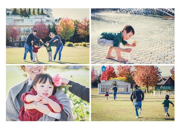 ミササガパーク(愛知県刈谷市)で家族写真の出張撮影