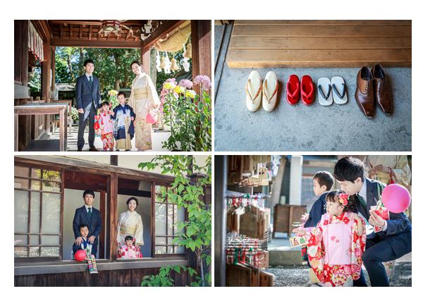 七五三 知立神社 愛知県知立市 家族の集合写真