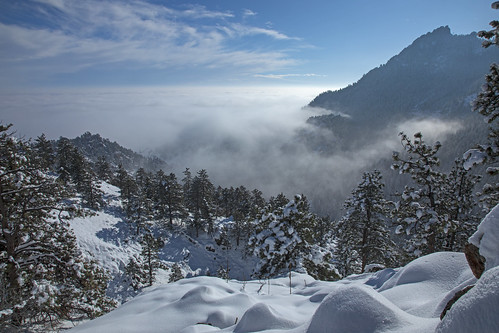 snow fog firstflatiron flagstaffmountain mountain canyon gregorycanyon boulder colorado bouldercountyopenspaceandmountainparks landscape earthnaturelife wondersofnature