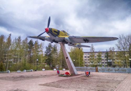 IL-2 Memorial in Lebyazh'e, Leningrad Region