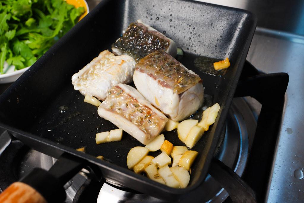 香煎 金目鱸魚排