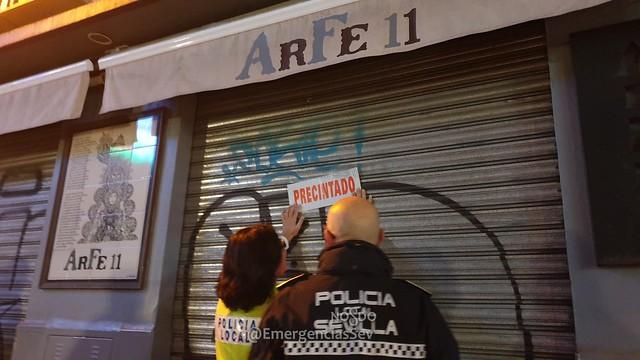 Bar Clausurado en Sevilla