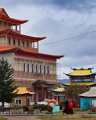 Russia, Ulan-Ude - Ivolginsky datsan, a Buddhist monastery - September 2018