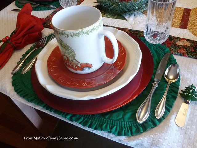 Christmas Cars Tablescape at FromMyCarolinaHome.com