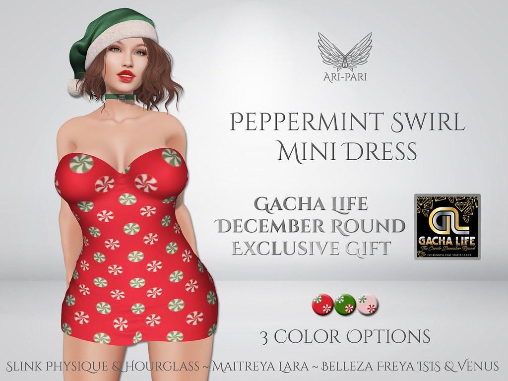 [Ari-Pari] Peppermint Swirl Mini Dress