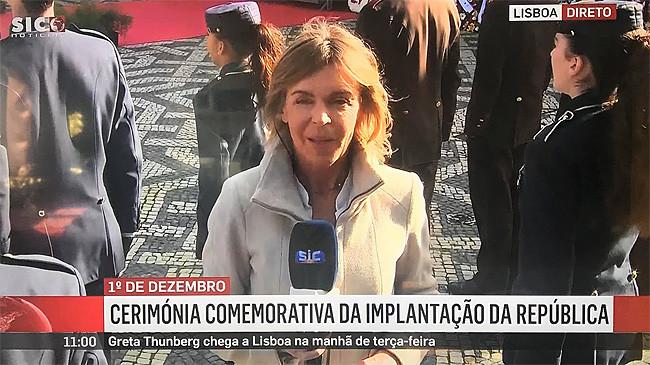 Cerimónia comemorativa da implantação da república (sic), S.I.C. – Notícias, 1/XII/2019.