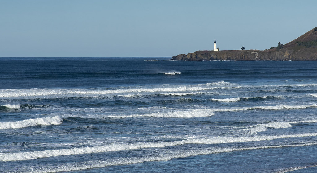 Yaquina Lighthouse from Nye Beach