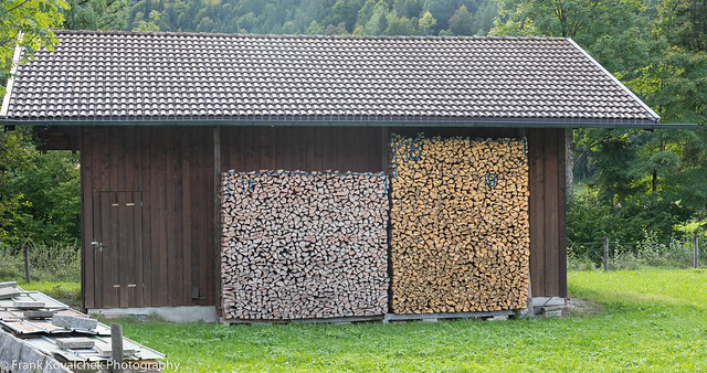Wood shed, Bavarian style